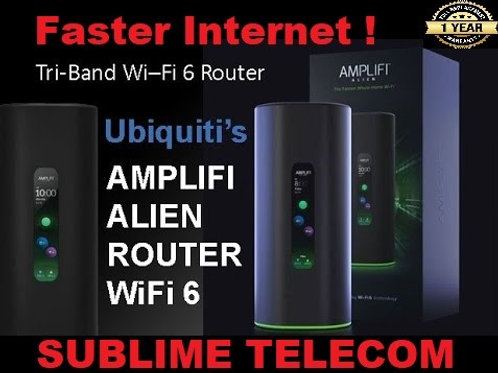 AFI-ALN-R Ubiquiti AmpliFi Alien High Speed Tri-band WiFi 6 Touchscreen Router