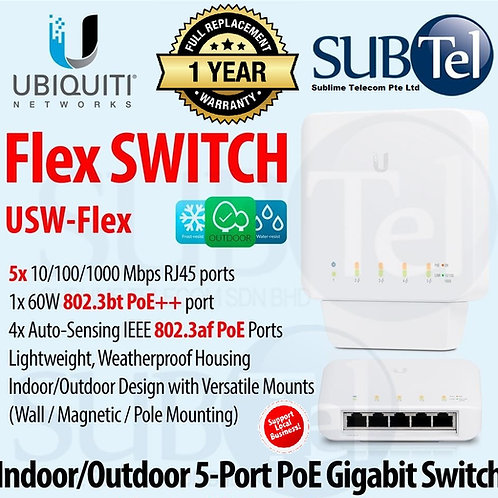 USW-Flex Ubiquiti Networks UniFi Switch Flex 46W 5-Port PoE 802.3af/at/bt UBNT