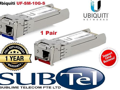 UF-SM-10G-S Ubiquiti SFP+ Single Mode BiDi Fiber Module (2 per pack) UBNT