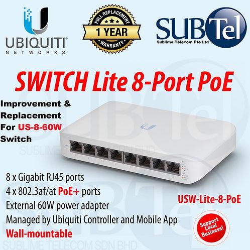 USW-Lite-8-PoE Ubiquiti Unifi 8 Port Switch 60W POE UBNT