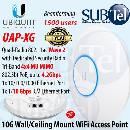 UAP-XG Ubiquiti Networks UniFi Wave 2 Quad-Radio 4 X 4 MU-MIMO 10G Access Point