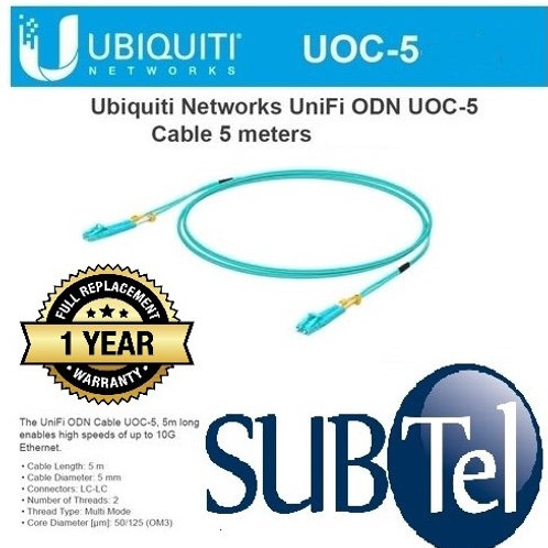 UOC-5 Ubiquiti 10G Multi-Mode ODN Cable 5 Metres LC - LC Multi Mode