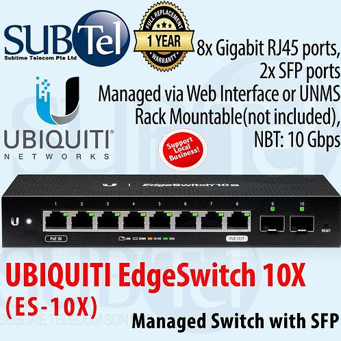 ES-10X Ubiquiti EdgeSwitch 10 Ports Switch Non PoE Version Of ES-10XP UBNT
