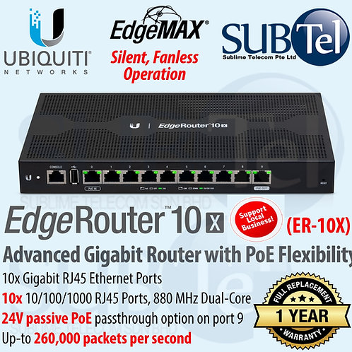 ER-10X Ubiquiti Networks EdgeRouter 10 Port EdgeOS UBNT Singapore