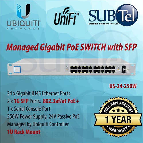 US-24-250W Ubiquiti Unifi Switch POE+ 24 Port SFP UBNT