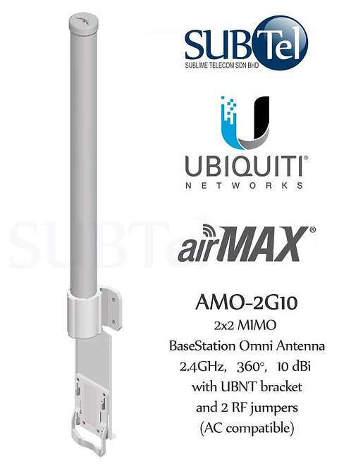 AMO-2G10 Ubiquiti 2GHz 10dBi AirMax MIMO Omni WiFi Antenna
