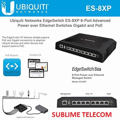 ES-8XP Ubiquiti EdgeSwitch XP 8 Gigabit Ports 24/48V PoE New Model Of TS-8-PRO