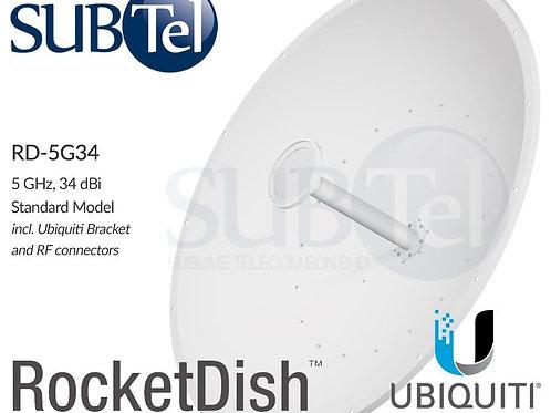 RD-5G34 Ubiquiti 5 GHz 34 dBi MIMO WiFi Dual Pol Dish Antenna