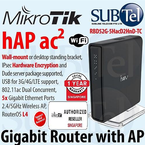 RBD52G-5HacD2HnD-TC Mikrotik Gigabit WiFi Router 5 Port hAP ac2