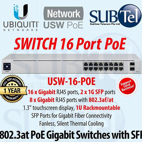 USW-16-POE Ubiquiti Networks UniFi POE Switch Gen2 Gigabit 16 Ports UBNT