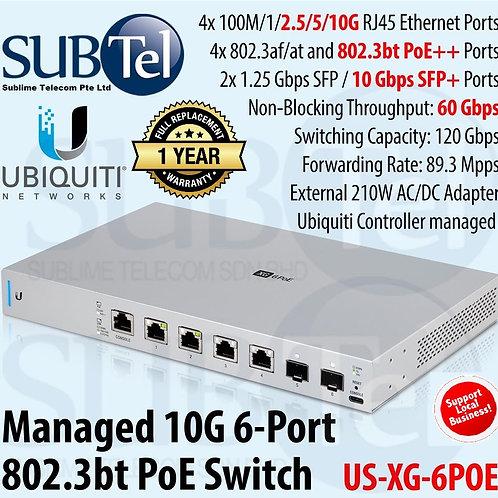US-XG-6POE Ubiquiti UniFi Switch XG 6 POE 10G SFP+ POE++ UBNT