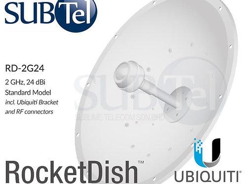 RD-2G24 Ubiquiti 2.4 GHz 24 dBi MIMO WiFi Dual Pol Dish Antenna