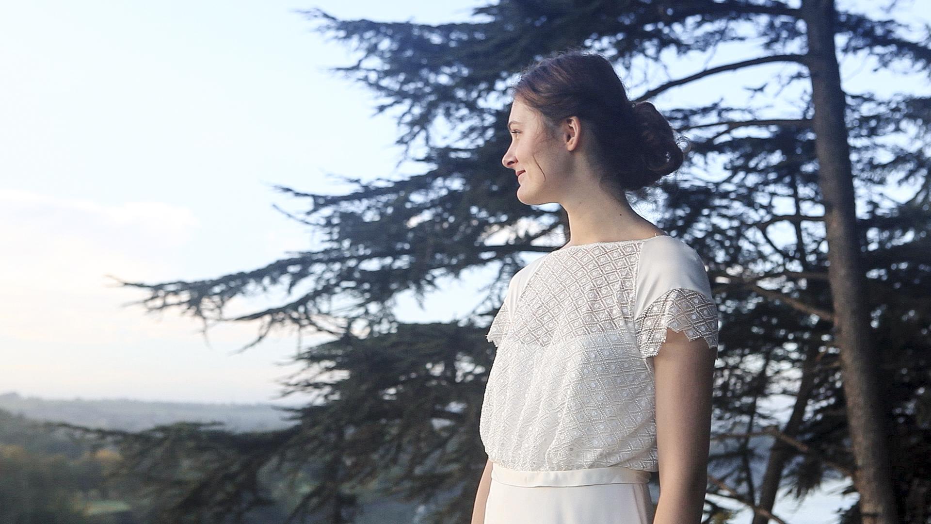 robe de mariée encolure bateau