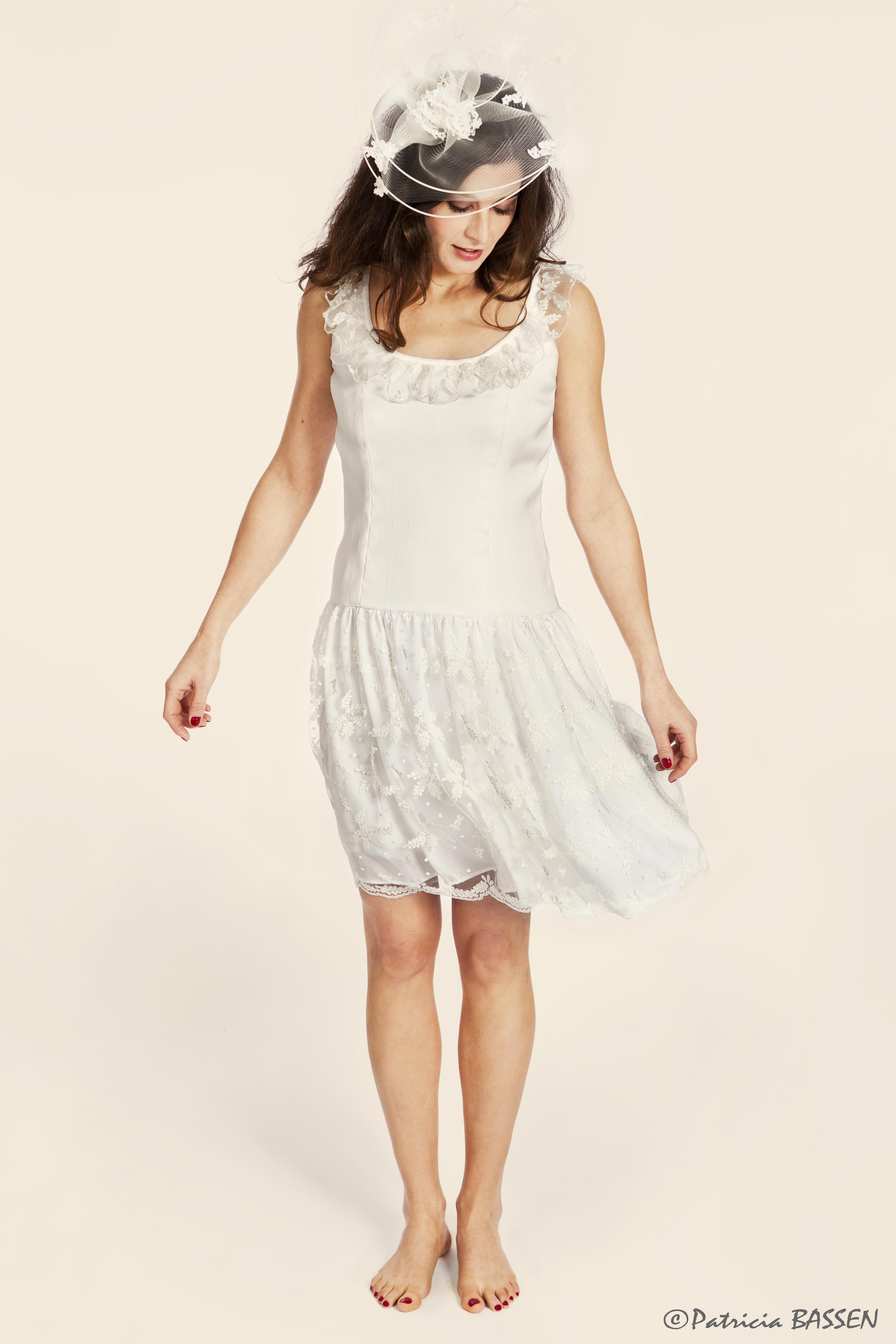robe de mariée courte fluide