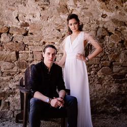 robe de mariée encolure V