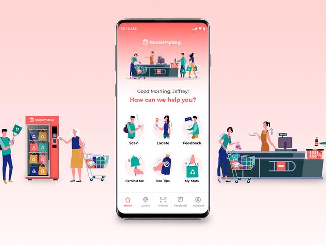 ReuseMyBag App - UX Case Study