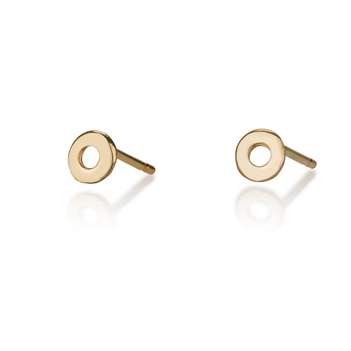 Small Hollow Circle stud earrings are handmade especialy for you.