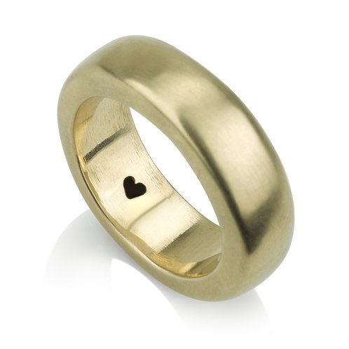 14k Gold Square 7 mm Wedding Band