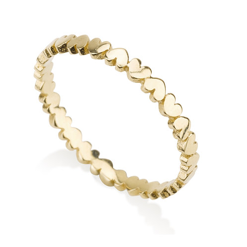 A dainy Hearts Ring. Chic urban look.   It was designed for girls to wear on its own, looks lovely stacked with more rings.