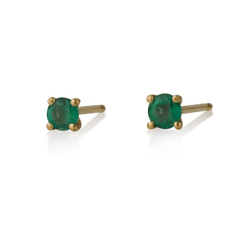 Emerald Dot stud earrings are handmade especialy for you.