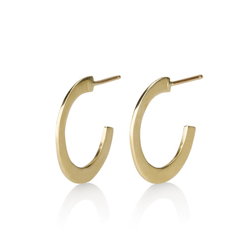Classic Flat Hoop Earrings , a chic urban look. The earrings were made to wear for a lifetime.