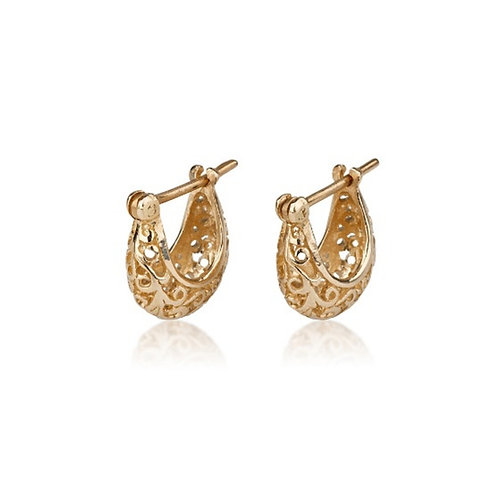 Small LACE Hoop Earrings, a chic look for special occasions. The earrings were made to wear for a lifetime.