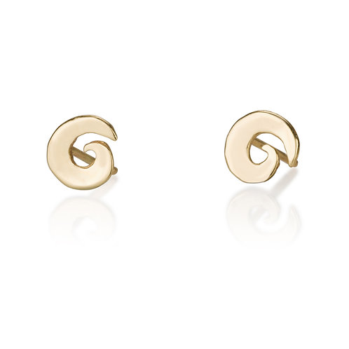 These Swirly  stud Earrings are handmade especialy for you. Each pair of dainty Swirly Stud Earring stud earrings are handmad