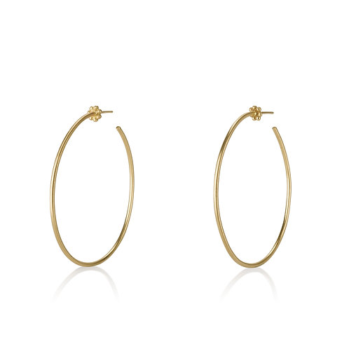 Large Hoop Earrings , a chic gypsy look . The earrings were made to wear for a lifetime.