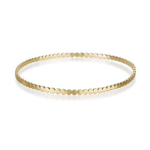 perfect Multiple Circles Bangle made of 14ksolid gold