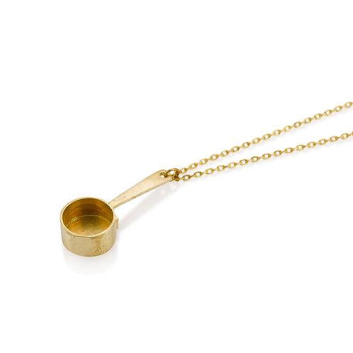 שרשרת תליון סיר קטן מצופה זהב/עשויה כסף/זהב מלא/זהב צהוב