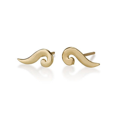 Long Swirly Stud Earrings are handmade especialy for you.