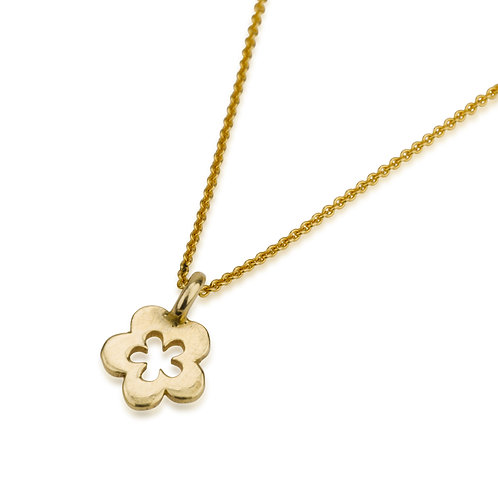 Dainty FLOWER Pendant Necklace