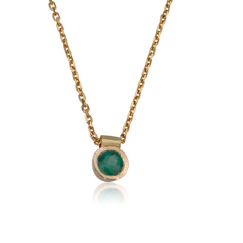 Emerald DOT Pendant Necklace