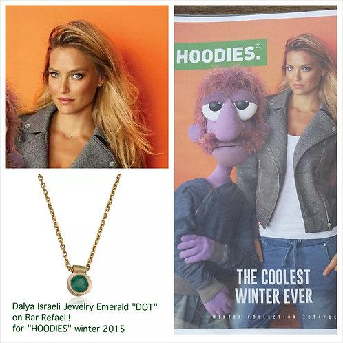 Emerald DOT Pendant Necklace