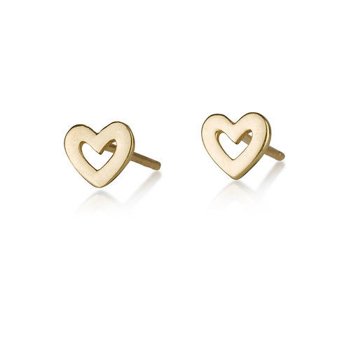 These Small Hollow Heart stud earrings are handmade especialy for you.
