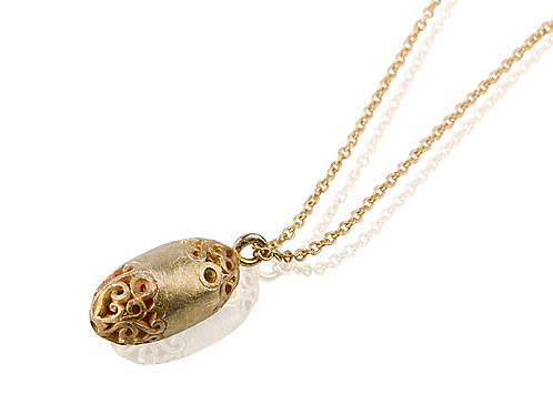 LACE Small Egg Pendant Necklace