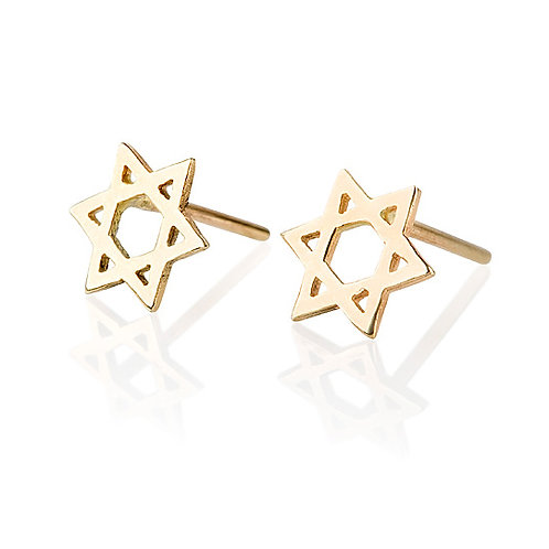Star Of David stud earrings are handmade especialy for Judaica gifts for women.