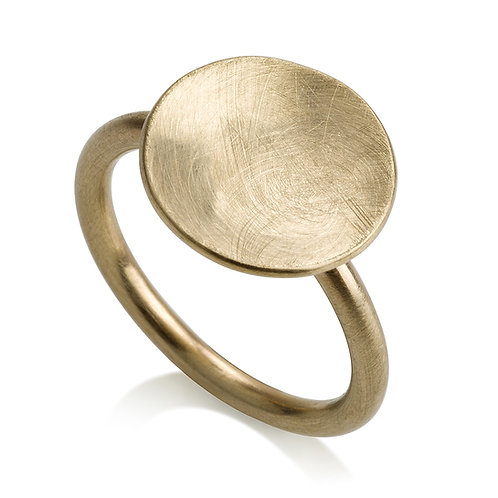 Flat Circle Ring with Personal Engraving
