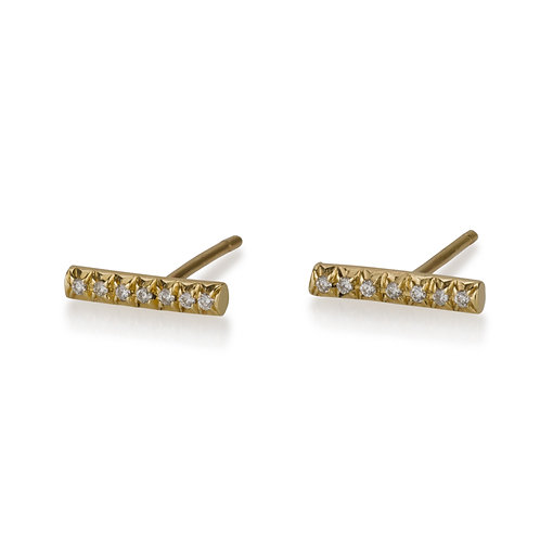 Diamond Stripe stud earrings are handmade especialy for you. Each pair of dainty Diamond Stripe stud earrings are handmade.