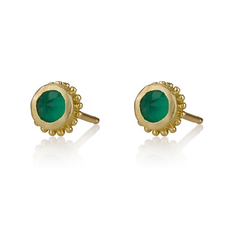 Gold Balls Labradorite stud earrings are handmade especialy for you.