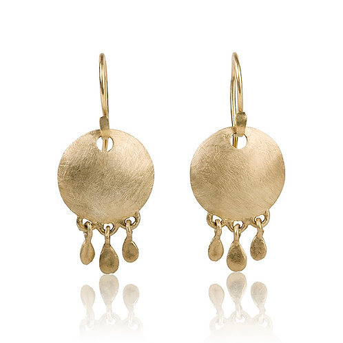 The Disc Coin Drop Earrings, a classy vintage  chic look. The earrings were made to wear for a lifetime.