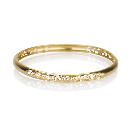 perfect LACE Bangle made of 14k solid gold