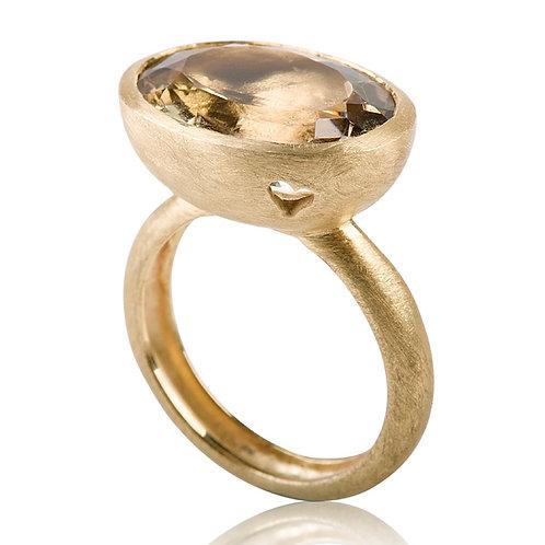 Large Signet Citrine Ring