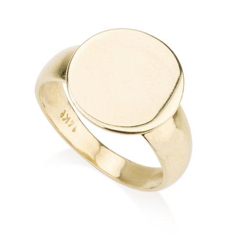Flat Circle Signet Ring