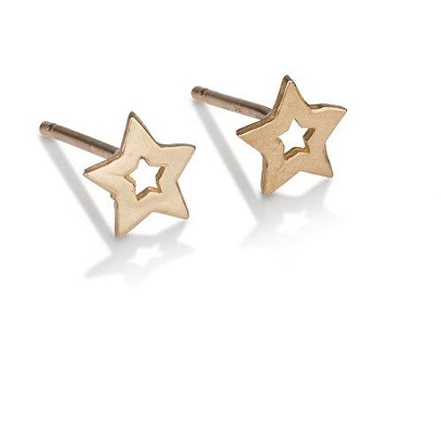 Hollow Star Stud Earrings