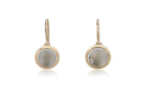 The SIGNET Round Circle Earrings Set With Aquamarine , a classy look for everyday.