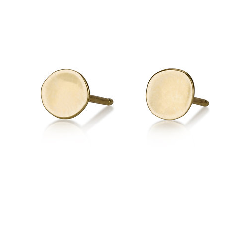 Plain Circle stud earrings are handmade especialy for you.