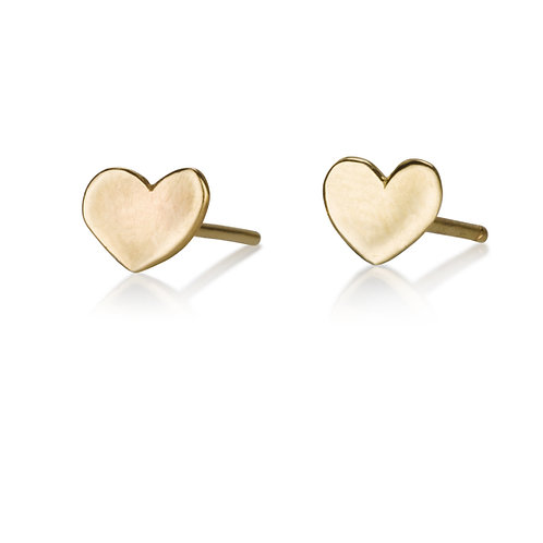 These Classic Plain Heartstud earrings are handmade especialy for you.