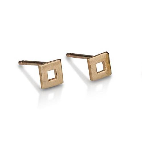 Small Hollow Square stud earrings are handmade especialy for you.