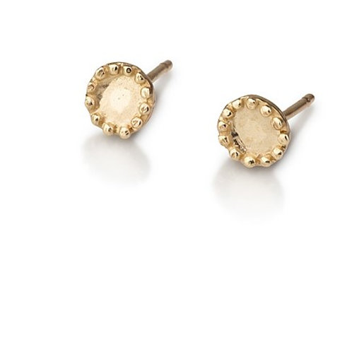 Small Dotted Circle stud earrings are handmade especialy for you.